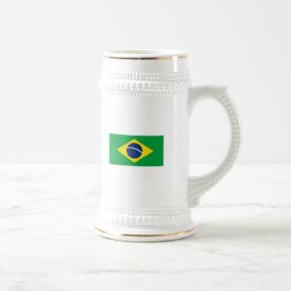 Die Flagge von Brasilien Bierglas