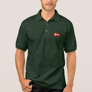 Die Flagge von Dänemark Poloshirt