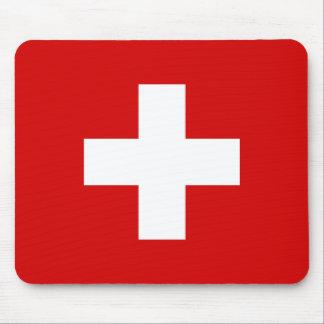 Die Flagge von der Schweiz Mauspads