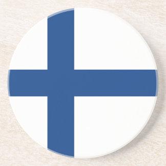 Die Flagge von Finnland - Siniristilippu Untersetzer