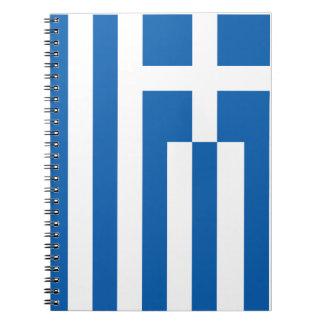 Die Flagge von Griechenland Spiral Notizbücher
