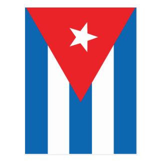 Die Flagge von Kuba Postkarte