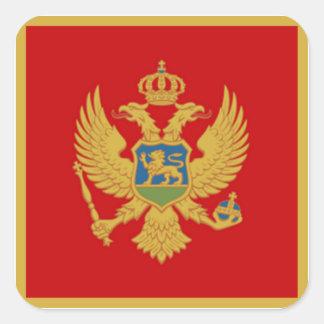 Die Flagge von Montenegro Quadratischer Aufkleber