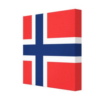 Die Flagge von Norwegen - Skandinavien Leinwanddruck