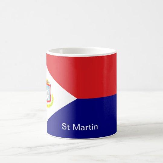 Die Flagge von St Martin Kaffeetasse