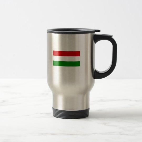Die Flagge von Ungarn Edelstahl Thermotasse