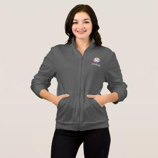 Die Fleece-Jacke der Frauen im Grau