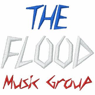 Die Flut-Musik-Gruppe - besonders angefertigt… - B Besticktes Hoodie
