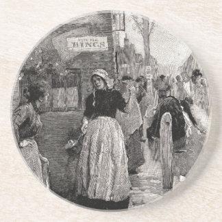Die Frauen liefen in die Straßen Untersetzer