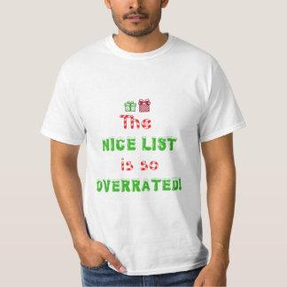 Die freche Liste ist also Overrated Shirt