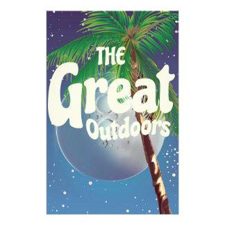 Die freie Natur Palme und Mond Briefpapier