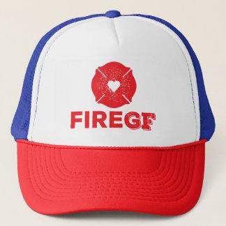 Die Freundin des Feuerwehrmannes des Feuer-GF Truckerkappe