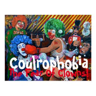 Die Furcht vor Clowns Postkarte