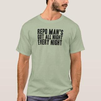 Die ganze Nacht nur jeder Nachttext T-Shirt