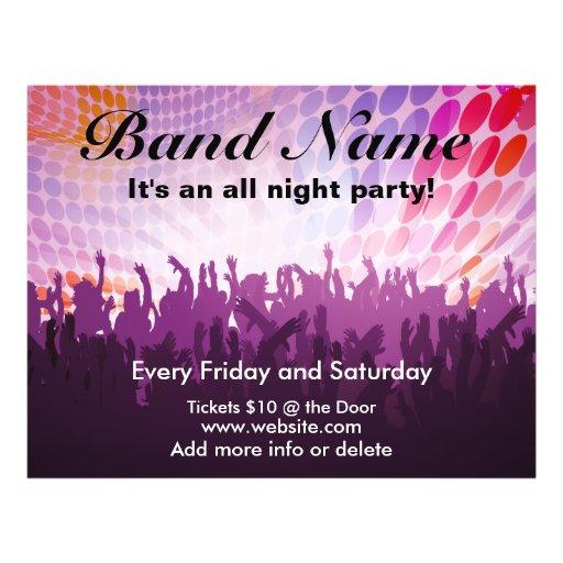 Die ganze Nacht PartyConcert Flyer