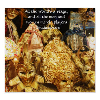 Die ganze Welt ist ein Bühne Shakespeare-Zitat Poster