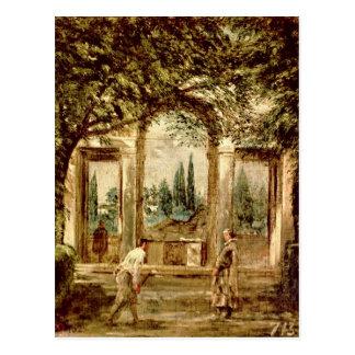Die Gärten des Landhauses Medici in Rom Postkarte