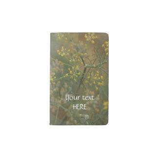 Die Garten Dill-Blume Moleskine Taschennotizbuch