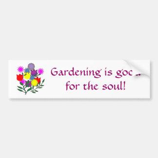 Die Gartenarbeit ist goodfor das Soul! Autoaufkleber