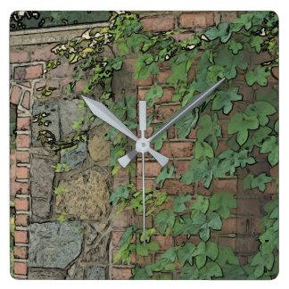 Die Gartentor-Uhr Quadratische Wanduhr