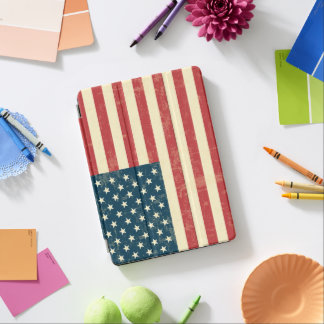 Die gealterte amerikanische Flagge verblaßte iPad Pro Hülle