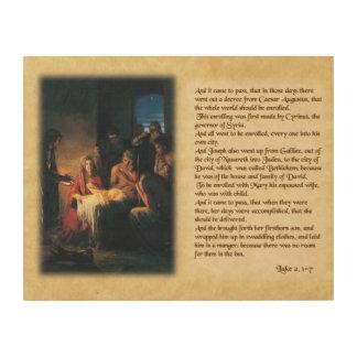 Die Geburt Christi des Lords Holzwanddeko
