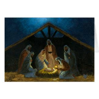 Die Geburt Christi Grußkarte