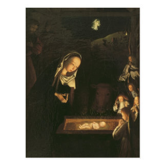Die Geburt Christi nachts Postkarte