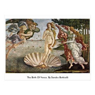 Die Geburt von Venus. Durch Sandro Botticelli Postkarte