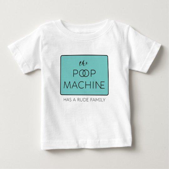 Die gekacktemaschine hat eine unhöfliche Familie Baby T-shirt