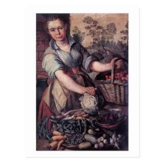 Die Gemüseverkäuferpostkarte Postkarte
