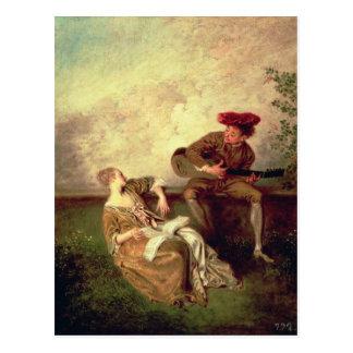 Die Gesang-Lektion Postkarte