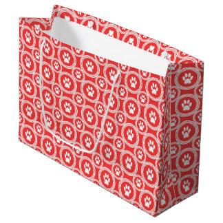 Die Geschenk-Tasche Tatze-für-Geben (orange) Große Geschenktüte