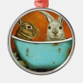 Die Geschichte von zwei Häschen Silbernes Ornament