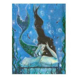 Die Geschichten-Postkarte einer Meerjungfrau Postkarte