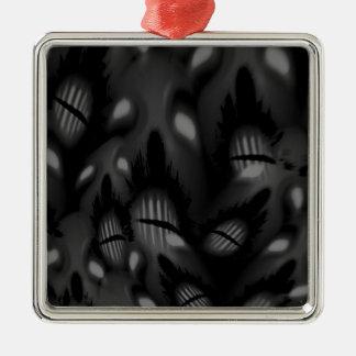 Die Gesichter der Toter Quadratisches Silberfarbenes Ornament