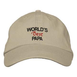 Die gestickte Kappe der Welt bester Papa