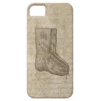 Die gestrickte Antike trifft Skript-Schmutz-Papier iPhone 5 Etui