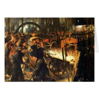 Die Gießerei - Adolph Von Menzel Grußkarte