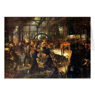 Die Gießerei - Adolph Von Menzel Karte