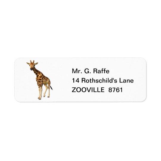 Die Giraffe Rücksendeetikett