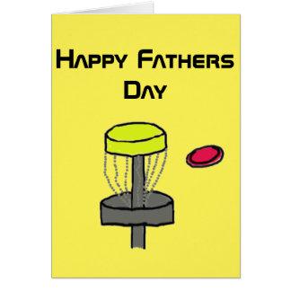 Die glückliche Vatertags-Discgolf-Grußkarte #2 Grußkarte