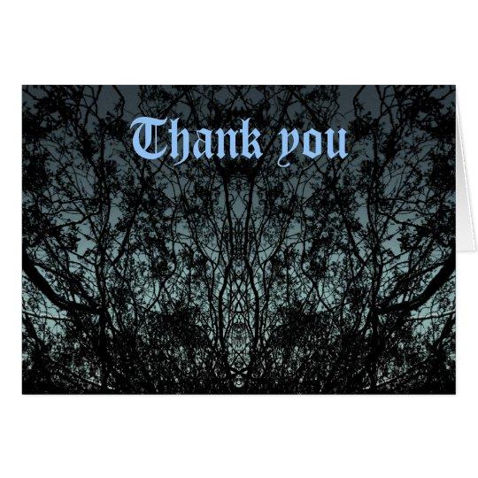Die gotische Natur-Silhouette danken Ihnen zu Mitteilungskarte