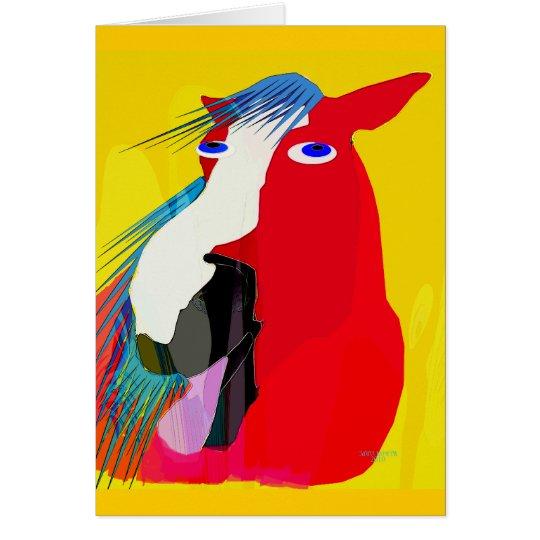 Die große Gegähne-Wunderliche Pferdesammlung Grußkarte