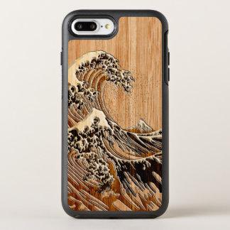 Die große Hokusai Wellen-hölzerne OtterBox Symmetry iPhone 7 Plus Hülle