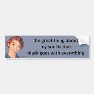 die große Sache über mein Soul… Autoaufkleber