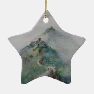 Die große Wand der China Keramik Ornament