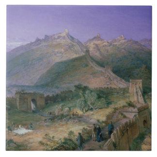 Die große Wand von China, 1886 (w/c) Keramikfliese