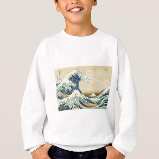 Die große Welle weg vom Ufer von Kanagawa Sweatshirt