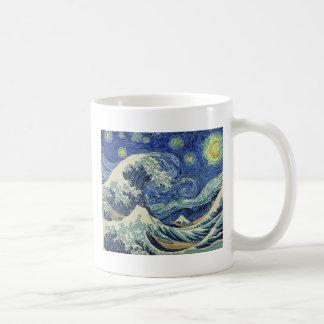 Die große Welle weg von Kanagawa - die Kaffeetasse